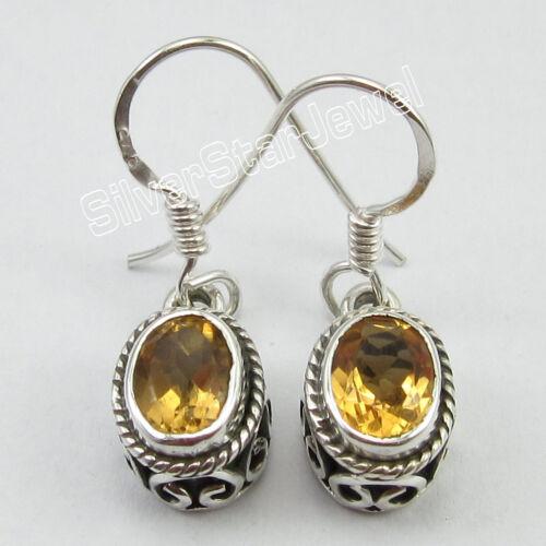 Abordable Mariage Bijoux Nouveau 925 Argent Pur Real Gemstone ethnique Boucles D/'oreilles