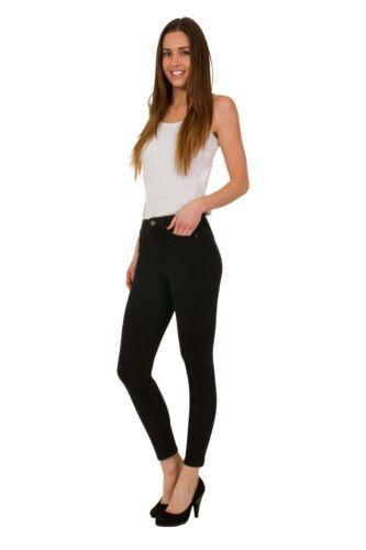 Ex M/&S Mid Rise Ladies Women Skinny Stretchy Denim Black Indigo Jeans Pants 6 22