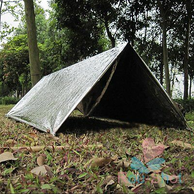 2x Folding Outdoor Emergency Blanket Survival Camping Shelter Adventure