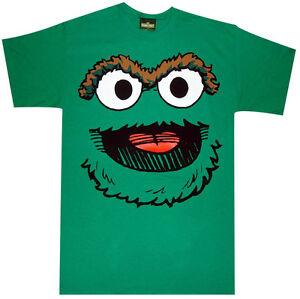 4348353b1 Official Sesame Street Oscar Smile Face Adult T-Shirt -Elmo Cookie ...