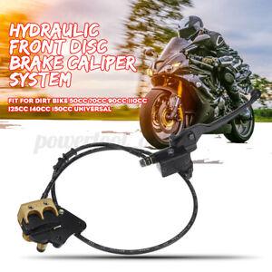 Hydraulic Front Disc Brake Caliper System 50cc 70cc 125cc Pit Pro Bike Uk Ebay