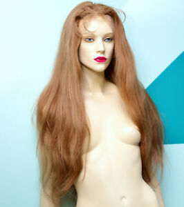 Full-Lace-Wig-Human-Hair-Indian-Remi-Remy-Medium-Brown-Straight-Premium-Wigs