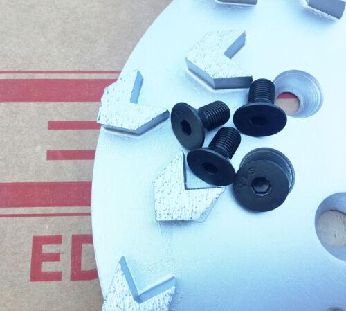 "4PK EDCO Flat HD SKT Screw Screws Only for 10/"" Grinding Plates"
