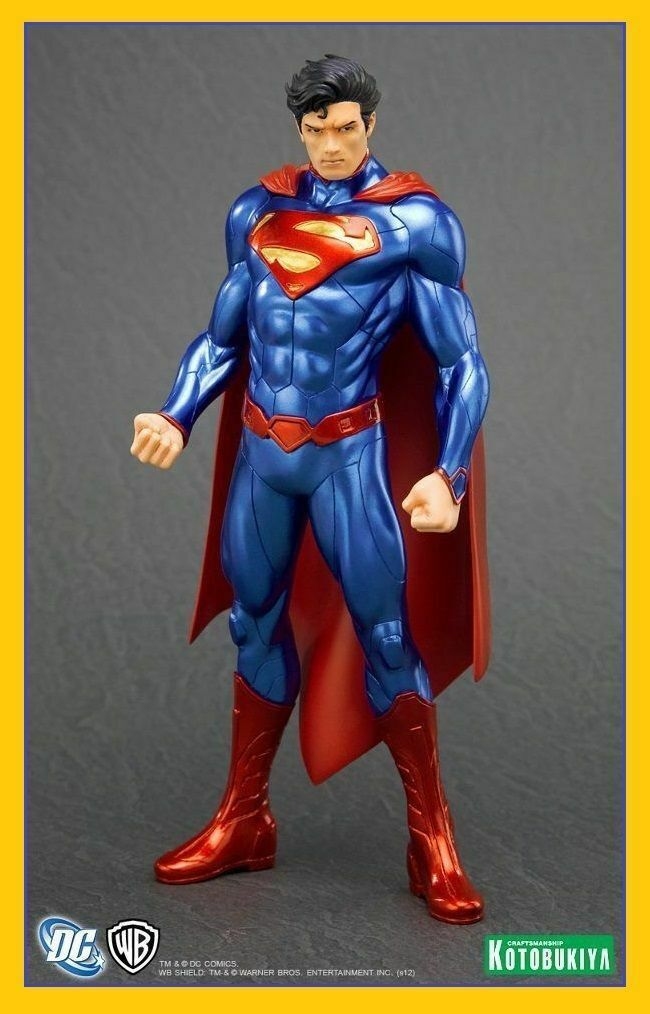 SUPERMAN Justice League New 52 Ver. ArtFX 1 10 Pvc Figure Kotobukiya box