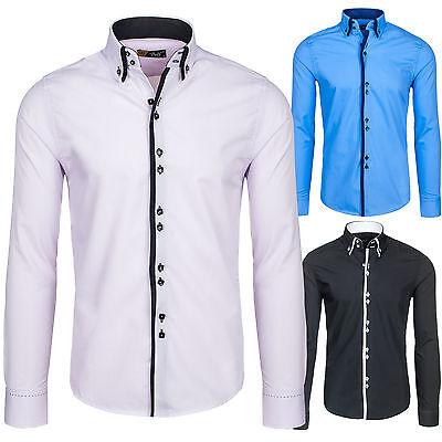 BOLF 1721 Langarm Herrenhemd Men Shirt Freizeit Hemd Slim 2B2 Polo Classic