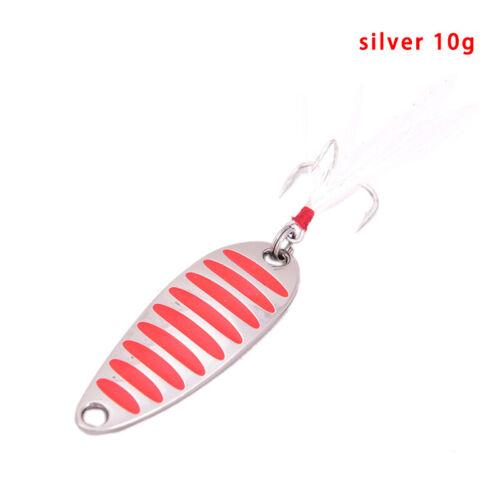 Fishing Lure Spoons Gold Silver Fishing Spoon Hard Lures Metal 5-20g Lure CJ