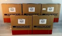 Lot Of 5 Boxes Signode Black Plastic Strapping 7/16 200ft Hd723b Part 2x1677g