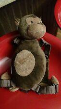 Goldbug Unisex Toddler Plush Brown Monkey Safety Harness Backpack (no leash)