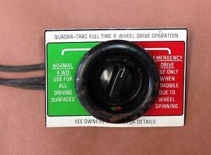 Jeep Quadratrac Emergency Drive Switch Glovebox 4x4 CJ7 Wagoneer Cherokee J10