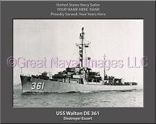 USS O/' Brien DD 725 Personalized Canvas Ship Photo Print Navy Veteran Gift