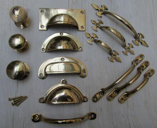 Laiton massif vintage rétro vieux meubles armoire tiroir armoire Robinetterie De Cuisine