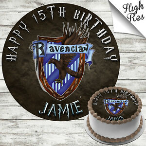 Remarkable Harry Potter Ravenclaw Edible Birthday Cake Topper Decoration Funny Birthday Cards Online Sheoxdamsfinfo