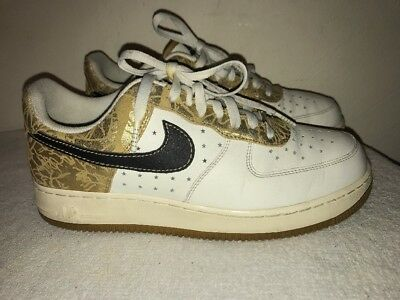 Nike Air Force 1 XXV Gold, Black, White Shoes 315115 101 Size 10 | eBay