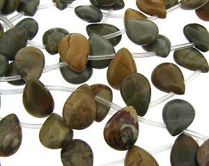 16-034-Strand-OWYHEE-OREGON-JASPER-9X11mm-Teardrop-Beads