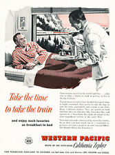 1958 California Zephyr Train Travel Luxury - Vintage Advertisement Print Ad J483