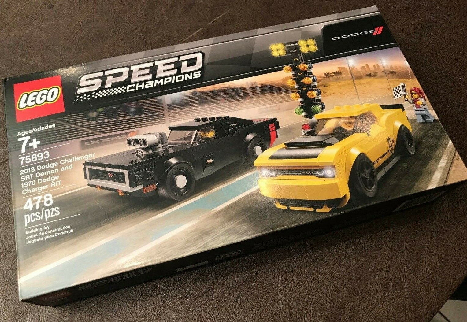 HTF LEGO SPEED CHAMPIONS 2018 DODGE CHALLENGER DEMON 1970 CHARGER CHARGER R T