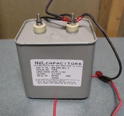 High Voltage 3.5KvDC 25MFD±10/% NWL Capacitor 920-3462 Rev C 11070 USED