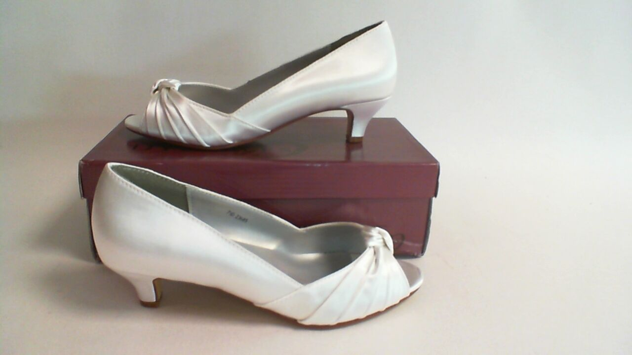 New Dyeables Wedding Shoe- White Satin - Becky- US 12D UK 10 #8R257