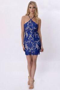 femmes-court-bleu-sequin-Celebrite-dos-nu-robe-par-pindydoll