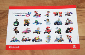 Details about Mario Kart 8 Deluxe Rare Promo Sticker Set Nintendo Switch  Yoshi Bowser Luigi