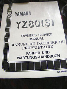 YAMAHA-YZ80-S-OWNER-S-SERVICE-MANUAL-1985-1st-EDITION