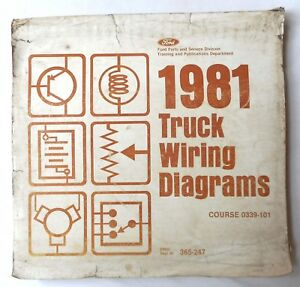 1981 FORD TRUCK WIRING DIAGRAMS MANUAL ALL MODELS F 100 ...