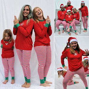 Xmas Kids Adult Family Matching Christmas Pajamas Sleepwear ...
