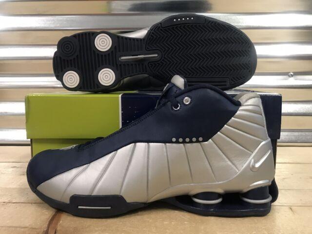 8b717a7f1242 Nike Shox BB4 iD 2005 OG Vince Carter Shoes Silver Navy Blue SZ 12 ( 302997