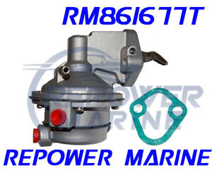 Details about Fuel Pump for Mercruiser 7 4L, 8 2L, Mounts to Raw Water  Pump, Repl: 861677T
