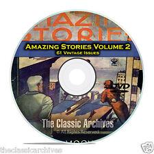 Amazing Stories Vol 2, 61 Vintage Pulp Magazine, Fiction, Hugo Gernsbeck DVD C32
