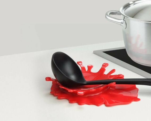 Mustard Blood Splash Spoon Rest Key Change Bowl Tray Red Fun Creative Gift Idea
