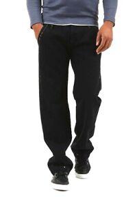 Jeans-Uomo-Pantaloni-YAZ-GATO-Italy-B089-Tg-33-Gamba-Dritta-Nero-veste-piccolo