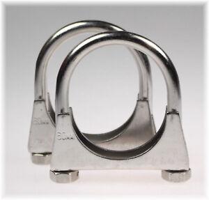 5St Auspuffschelle Rohr-Bügel Schelle U-Bolt Clamp M10 x 80mm Flachbügelschelle