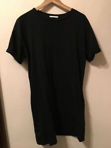 Long zara t shirt dress size s ebay for Zara black t shirt dress