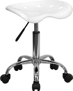 Charmant Details About Small Adjustable Work Shop Stool Rolling Tractor Seat Swivel  Bench Desk Chair