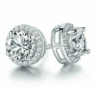 Round-Halo-Stud-Earrings-with-Swarovski-Crystals-in-18K-White-Gold-with-Gift-Box