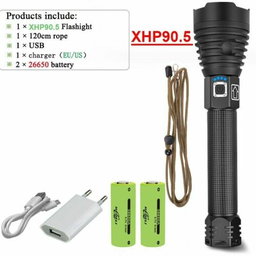 Details about  /Led Flashlight Torch Zoom Usb Rechargeable Tactical Camping Torch Portable Lamp