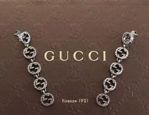 03e4ca034bf Image is loading New-Authentic-GUCCI-INTERLOCKING-G-925-Sterling-Silver-