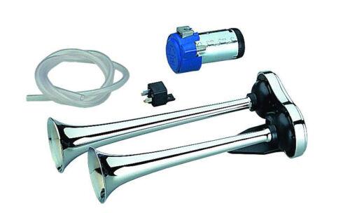 Made in Europa Kompressor-Doppelhorn 35//31cm 24Volt E-Prüfzeichen LKW ab 7,5 to
