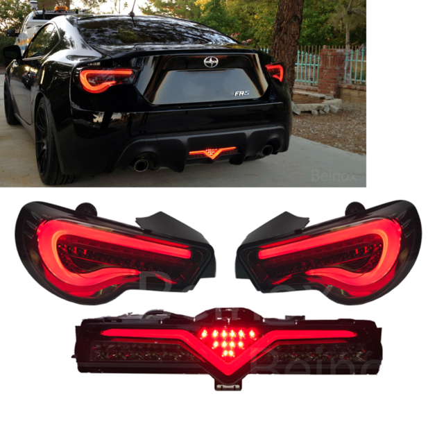 GT86 FRS BRZ LED Tail Light Sequential + Bumper Lamp Valenti Smoke USDM 13-20