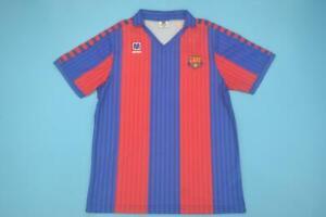 fc-BARCELONA-1991-1992-ANTIGUA-RETRO-CAMISETA-FUTBOL-HOME-shirt-football-spain