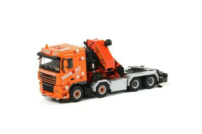 WSI 01-1307 DAF XF 105 HEAVY TRACTOR + chaine 150002 Senn 1 50 Die-Cast Comme neuf IN BOX