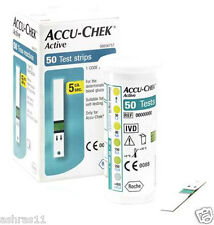 50 Test Strips of Accu Chek Active Blood Sugar Device