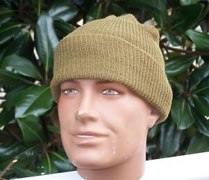 Hat-Watch-Cap-Wool-Knit-US-Army-Military-Infantry-USMC-Hiking-Camping-USA-w-P38