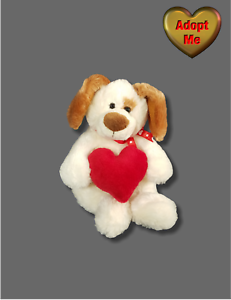 """good condition 12/"""" plush Puppy Dog doll w// /""""You /& Me/"""" heart"""