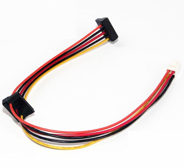 ATX Motherboard 4pin To 2 Port Serial ATA SATA Hard Drive Power Cable For Lenovo