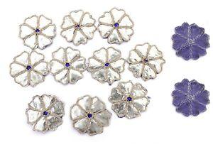 Indian-Floral-Appliques-Zari-Work-Decorative-Applique-Supplies-Patches-10-PC-Set