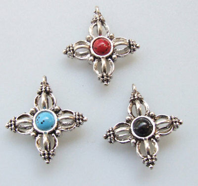 5pcs Tibet Silver Bracelet Necklace Connectors Bail Jewelry Findings 16x10mm