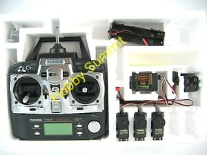 Futaba-7CP-7-Channel-Radio-Set-FM-PCM-w-3-X-Servos-R-C-Heli-Airplane-4WD