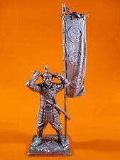 Tin Soldiers 54mm. Ashigaru with flag 1600. Miniature Figurine M226